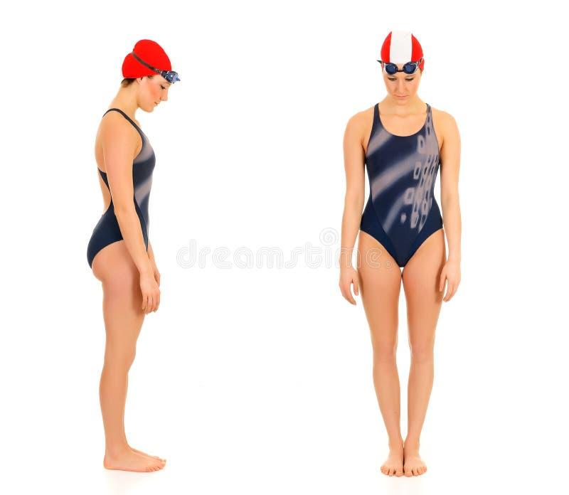 Atleta, nuotatore femminile fotografia stock