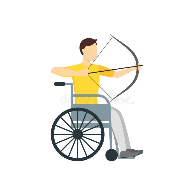 Atleta Person da inabilidade dos desenhos animados Vetor ilustração do vetor