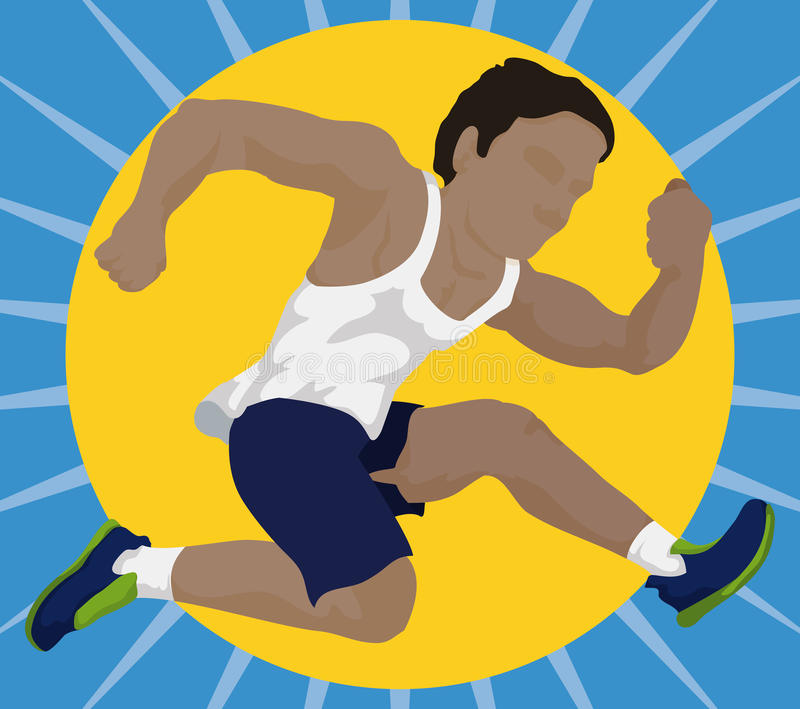 Atleta que faz um salto alto, ilustração do vetor ilustração do vetor