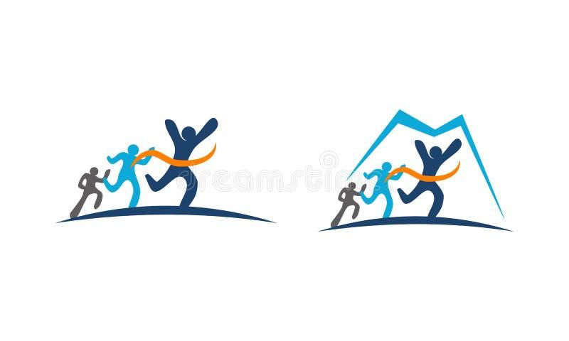 Atleta Run Template stock de ilustración