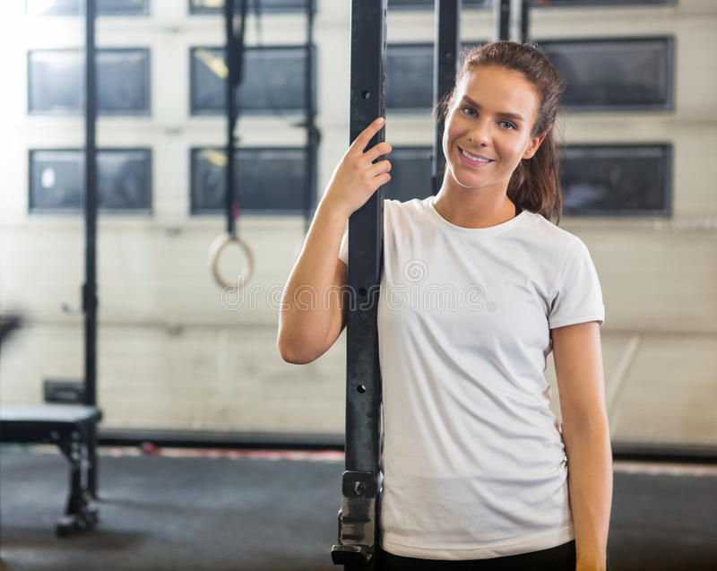 Atleta seguro At Gym foto de stock