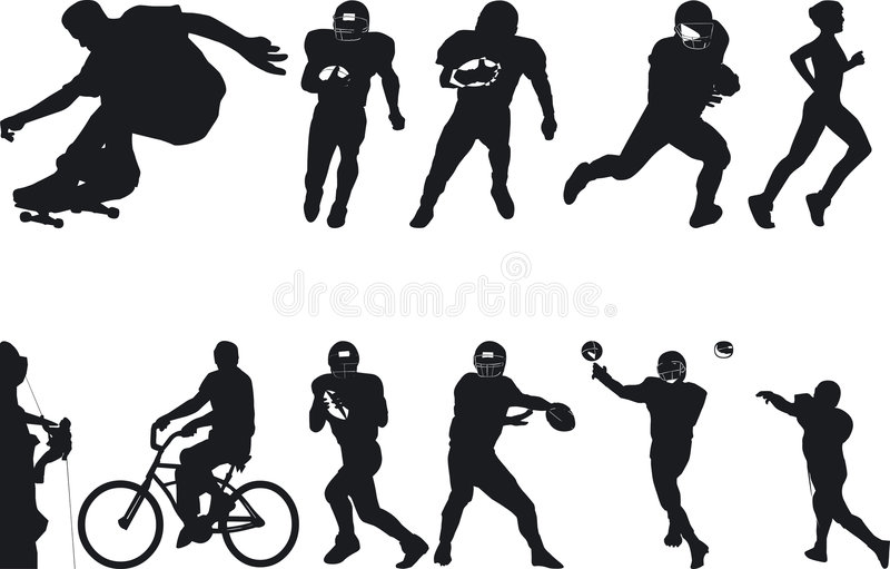Atleta Silouettes libre illustration