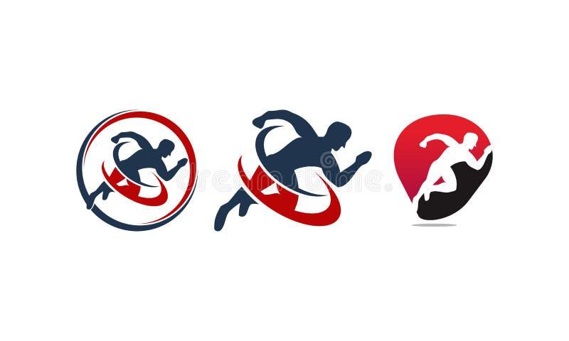 Atleta Sport Template Set ilustração royalty free