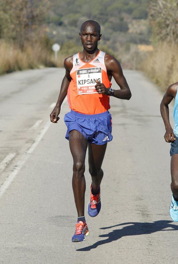 Atleta Wilson Kipsang del Kenyan fotografía de archivo