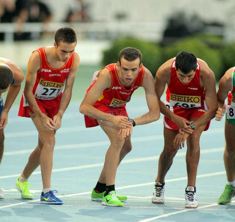 Atleten op het begin van gebeurtenis 10000 royalty-vrije stock foto