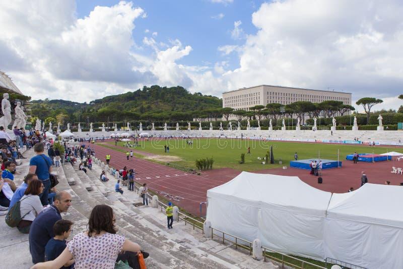 Atleten op Stadio-dei Marmi royalty-vrije stock foto