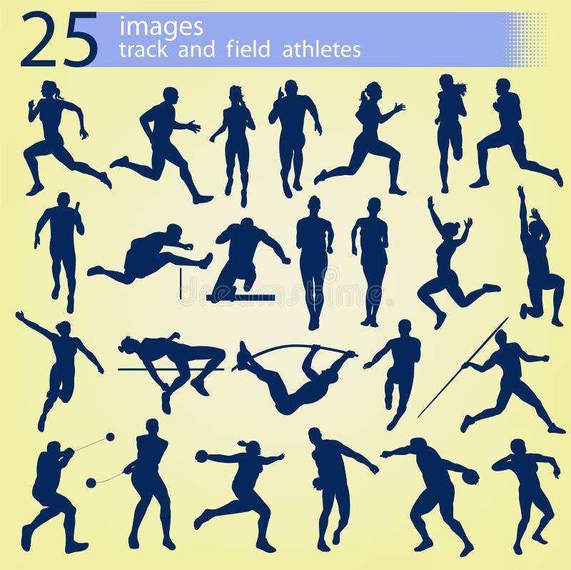 25 atleti di atletica di immagini fotografia stock
