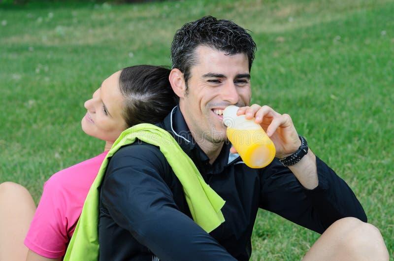 Atleti felici immagini stock libere da diritti