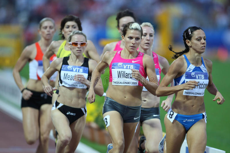 Atleti femminili 800m finali fotografie stock libere da diritti
