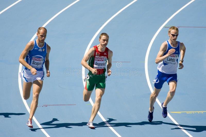 Atletica 800m fotografia stock libera da diritti