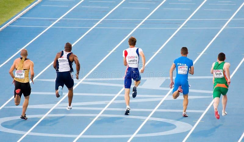 Atletica 100m fotografia stock
