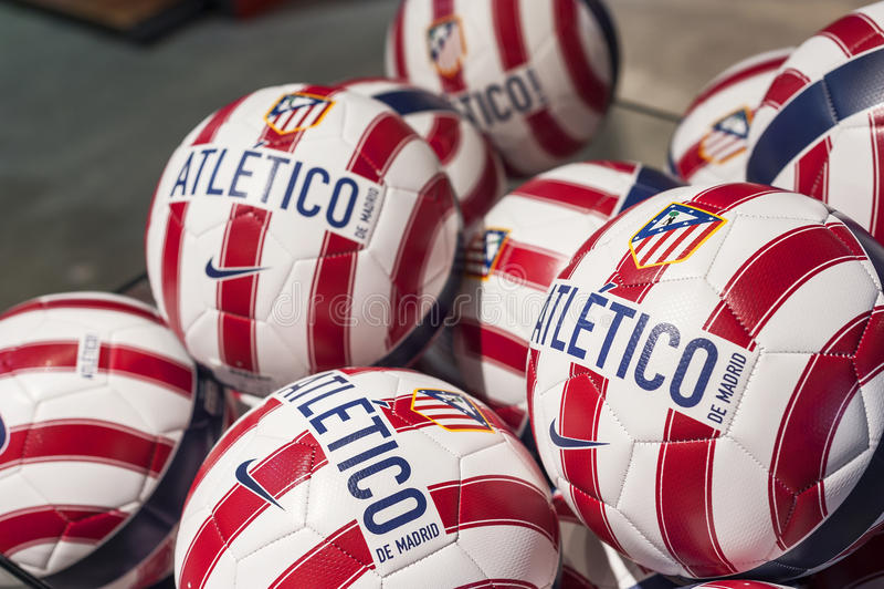 Atletico马德里球 免版税库存照片