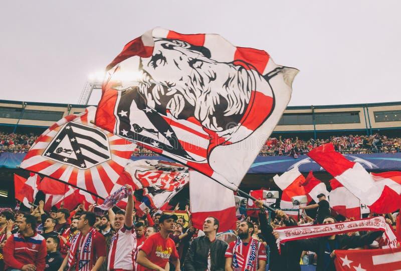 Atletico Madrid (1-0) Bayern Munich fotografia stock libera da diritti
