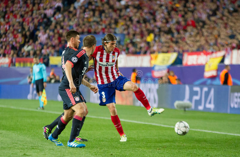Atletico Madrid (1-0) Bayern Munich stockbild