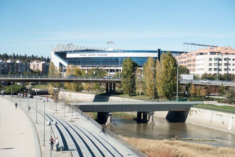 : Atletico Madrid, Madrid España del estadio de Vicente Calderon foto de archivo