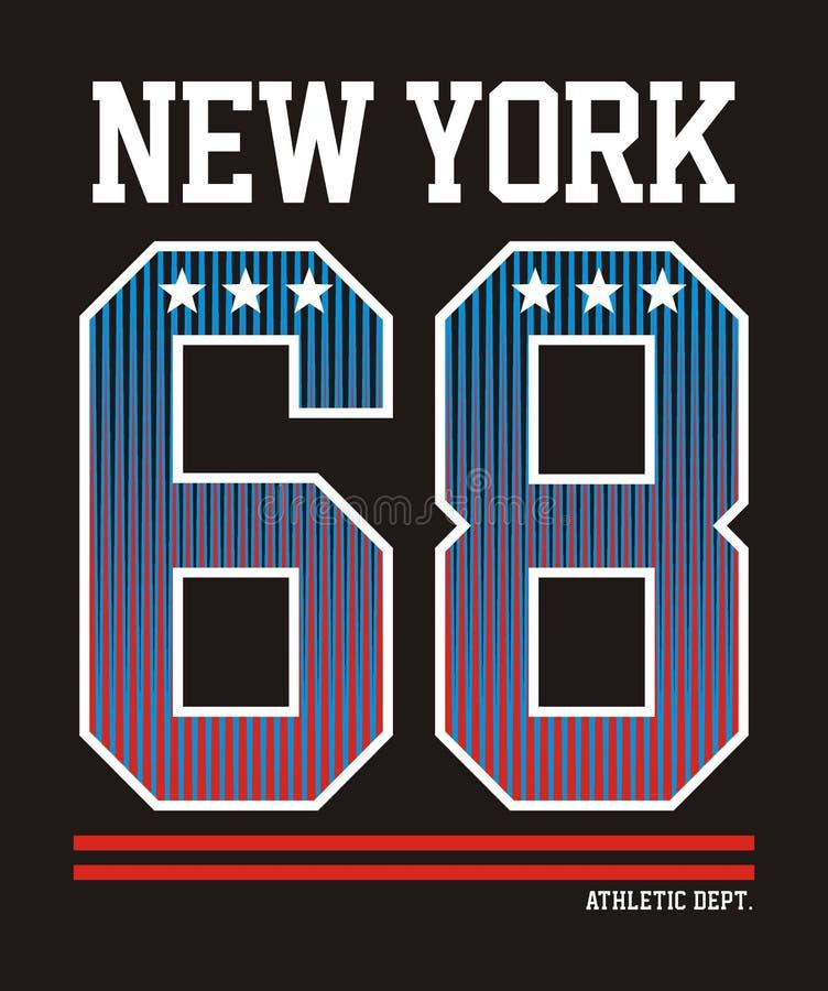 Atletisch New York vector illustratie