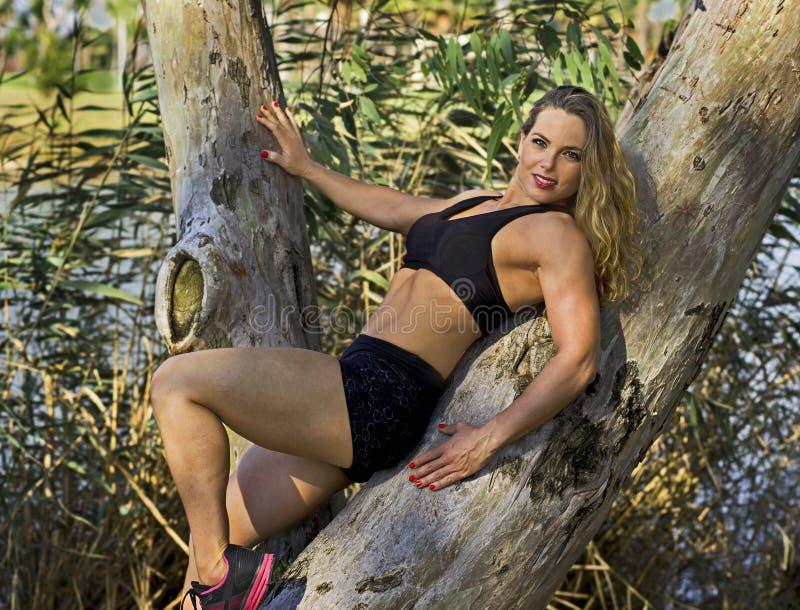 Atletische Israëlische Schoonheid royalty-vrije stock afbeelding