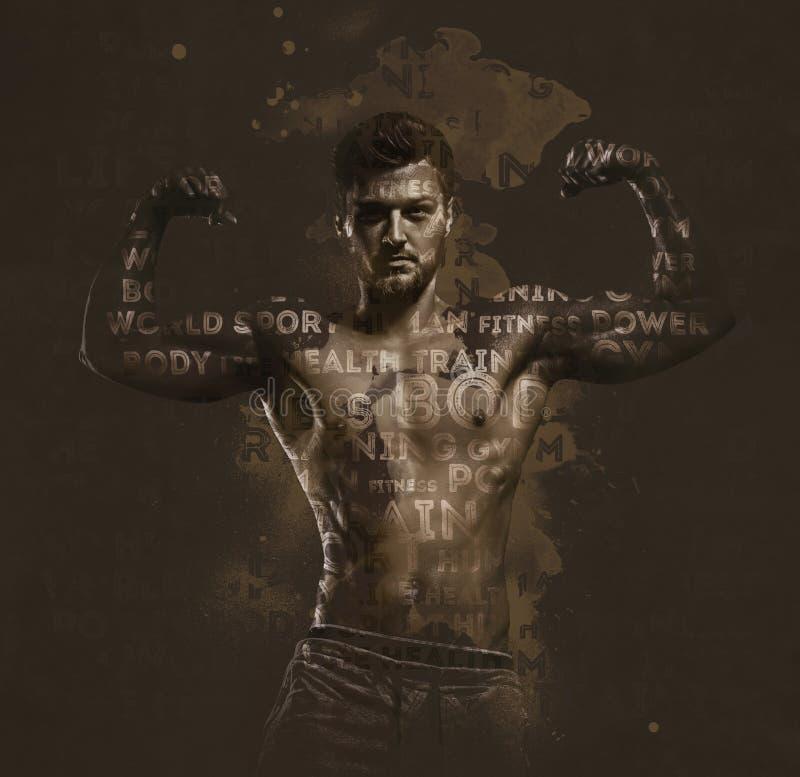 Atletische Knappe Mens stock illustratie