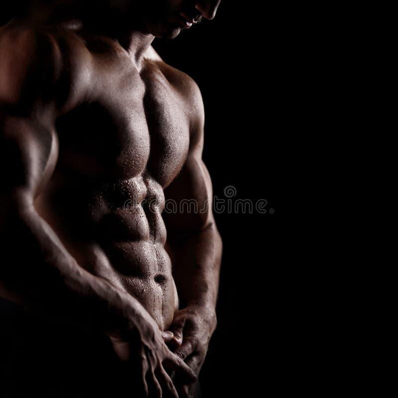 Atletische mens stock afbeeldingen