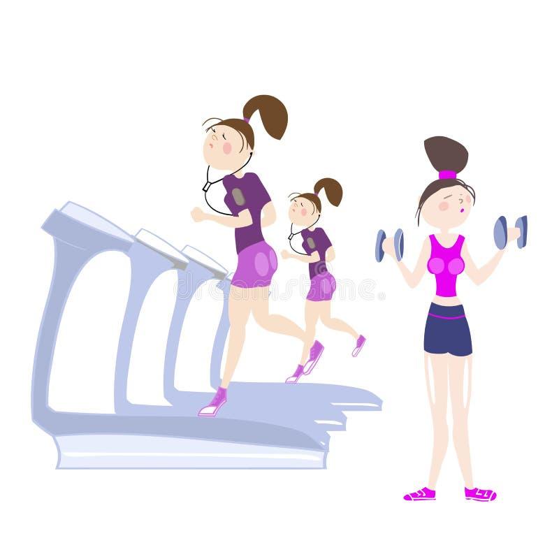 Atletische oefeningen royalty-vrije illustratie