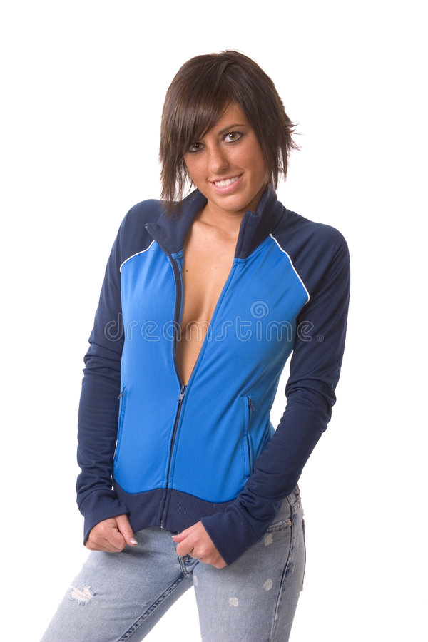 Atletische vrouw stock afbeelding