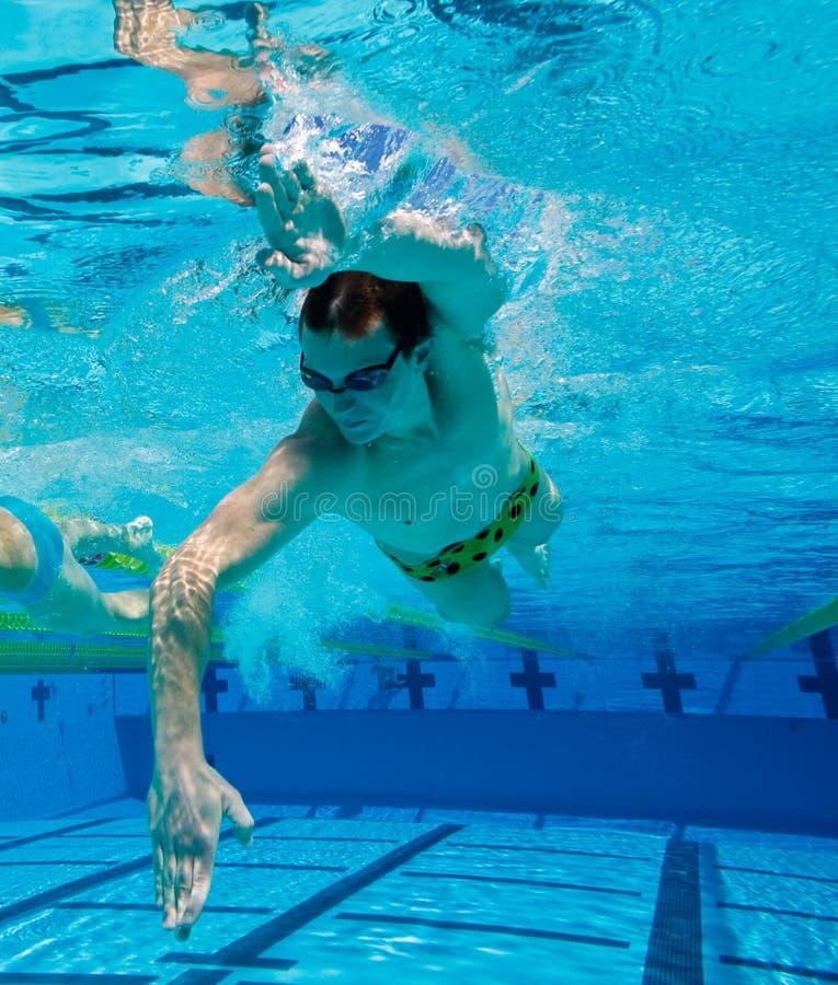 Atletische Zwemmer royalty-vrije stock foto