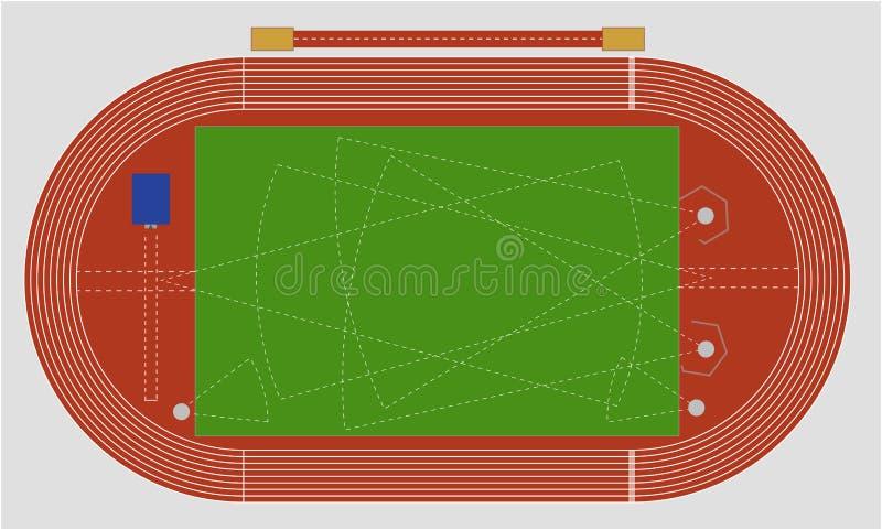 Atletismo ilustración del vector