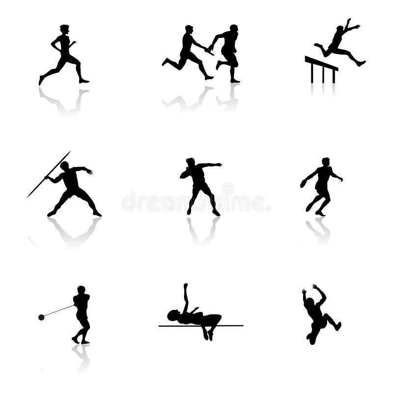 Atletismo ilustração royalty free