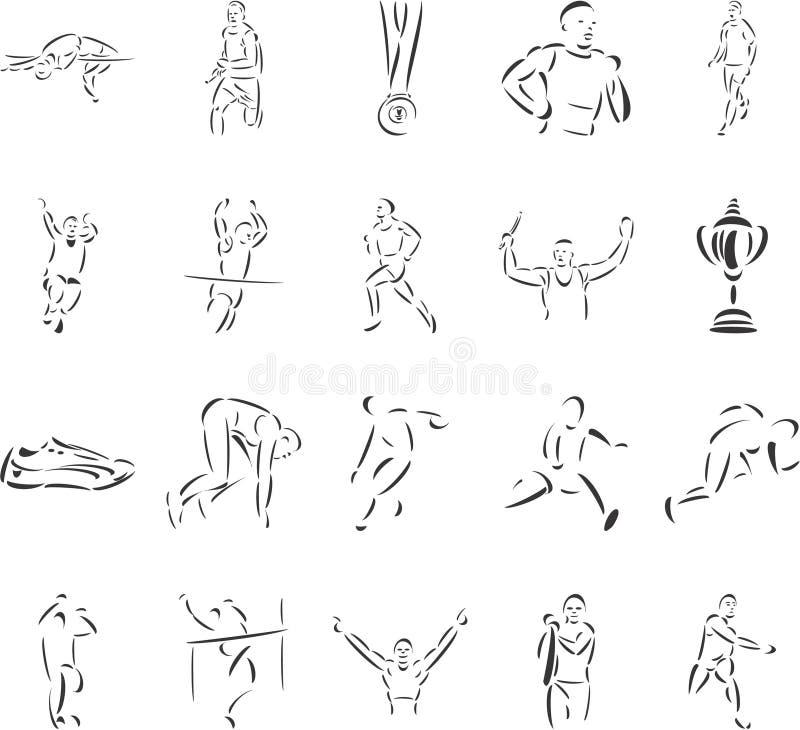 Atletismo illustrazione vettoriale