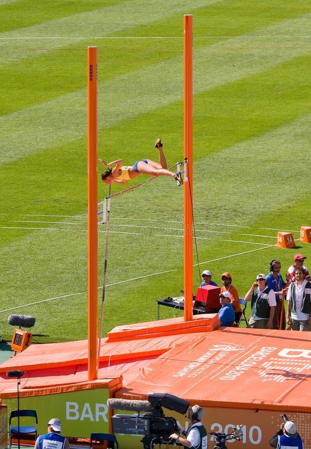 Atletismo do vault de pólo imagem de stock royalty free
