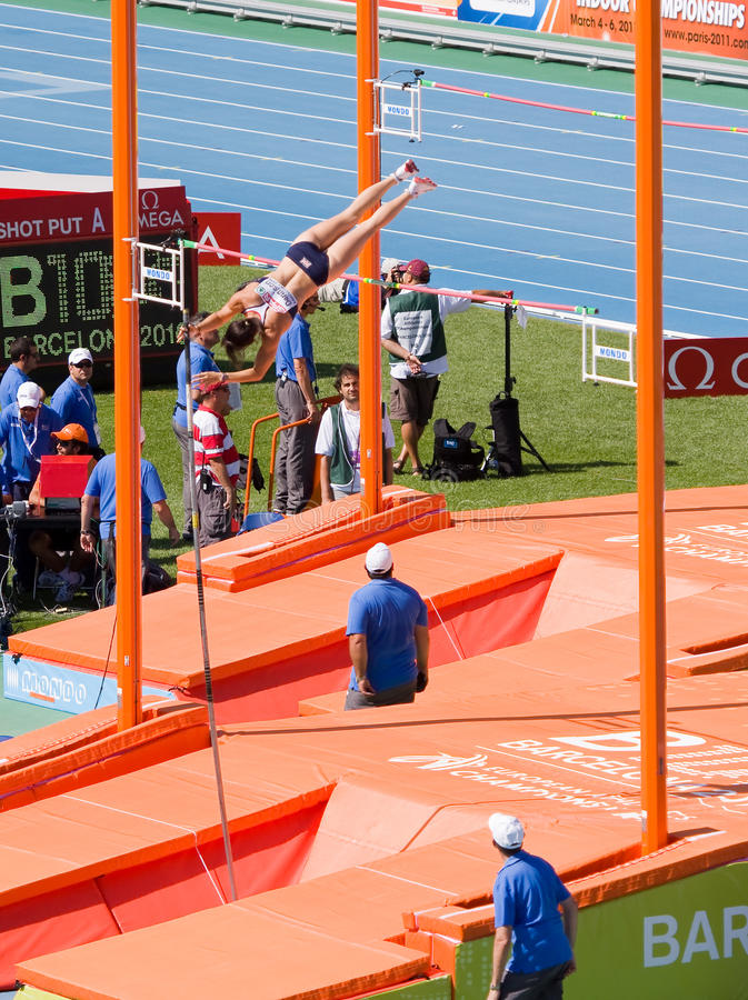 Atletismo do vault de pólo foto de stock royalty free