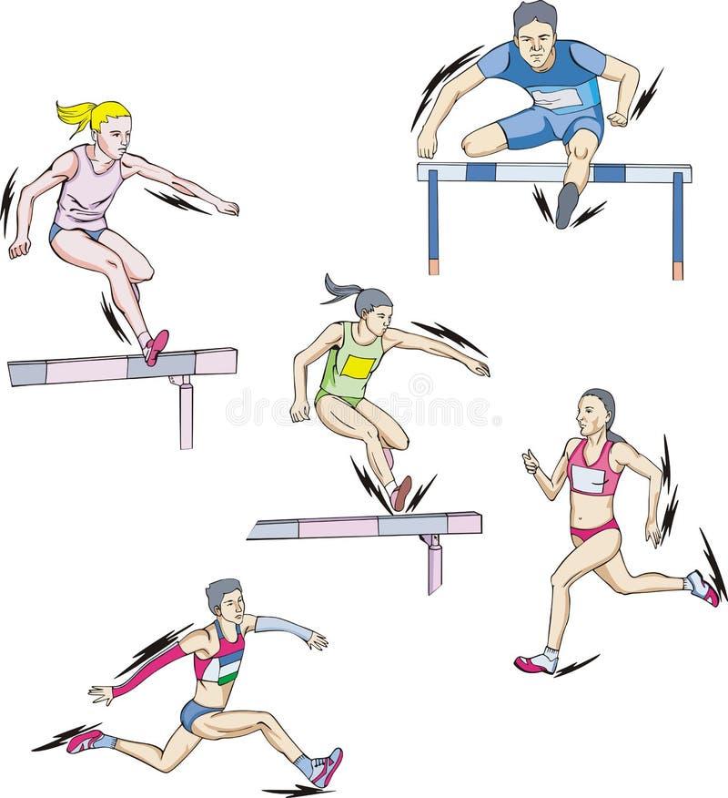 Atletismo - esecuzione illustrazione vettoriale