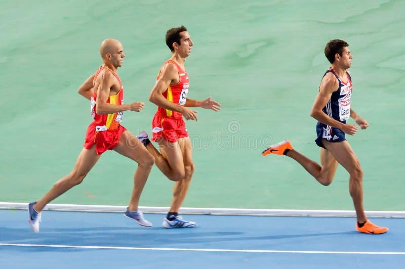 Atletismo 1500 medidores imagem de stock royalty free