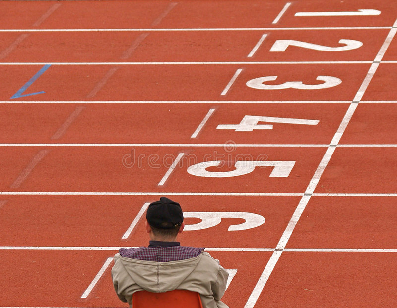Atletismo/trilhas vazias fotografia de stock