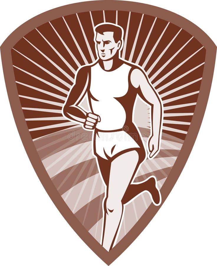 atlety maratonu biegacza sporty ilustracja wektor