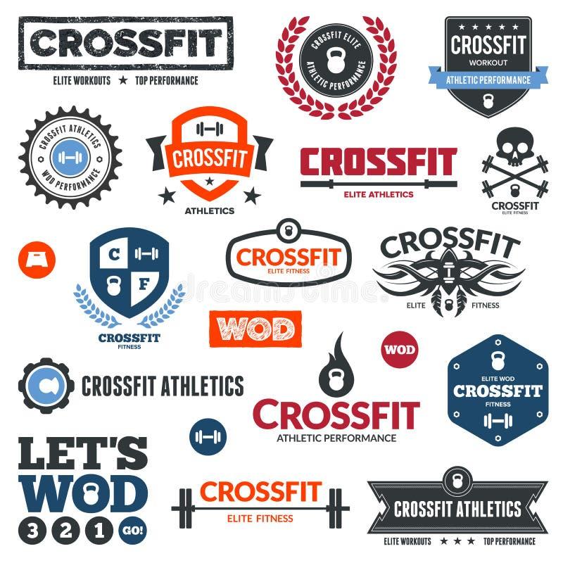 atletyka crossfit grafika royalty ilustracja