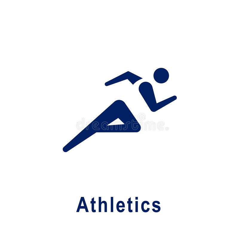 Atletyka piktogram, nowa sport ikona royalty ilustracja