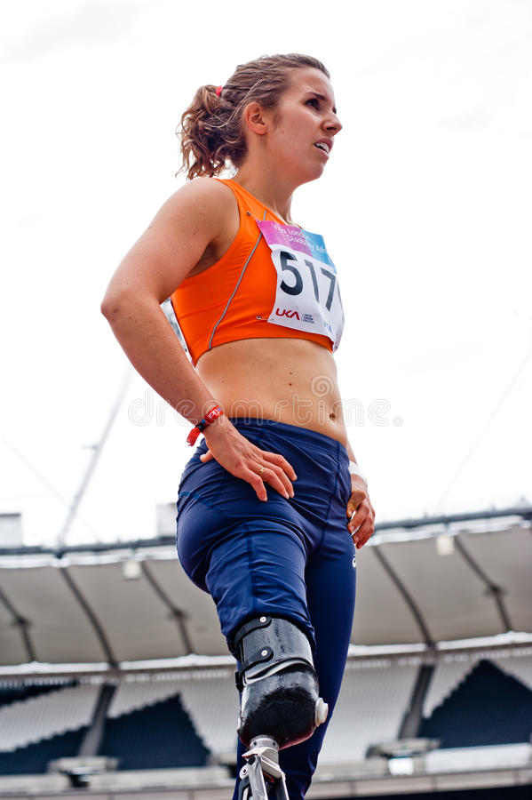 atletyka wyzwania inwalidzka London wiza zdjęcia royalty free