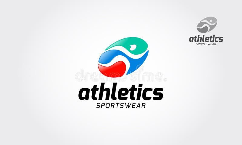 Atletyki Sportswear wektoru logo ilustracja wektor