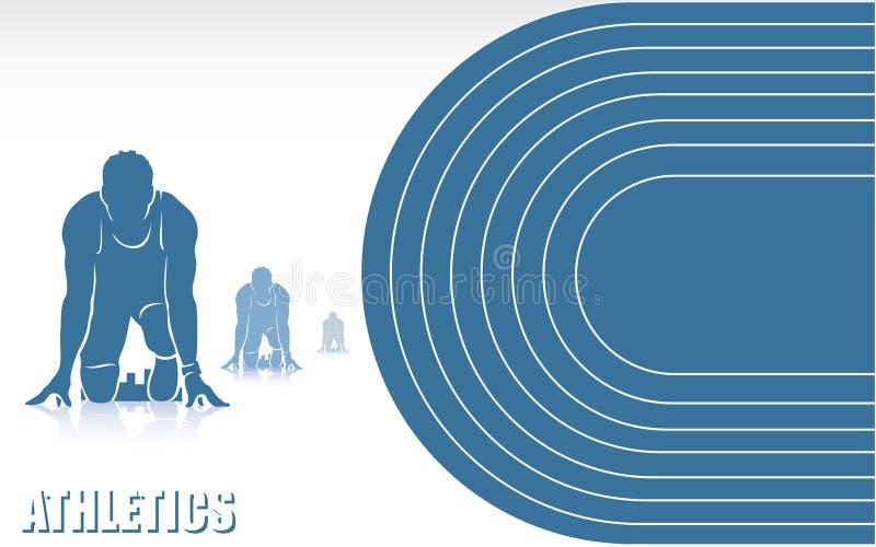 Atletyki tło ilustracja wektor