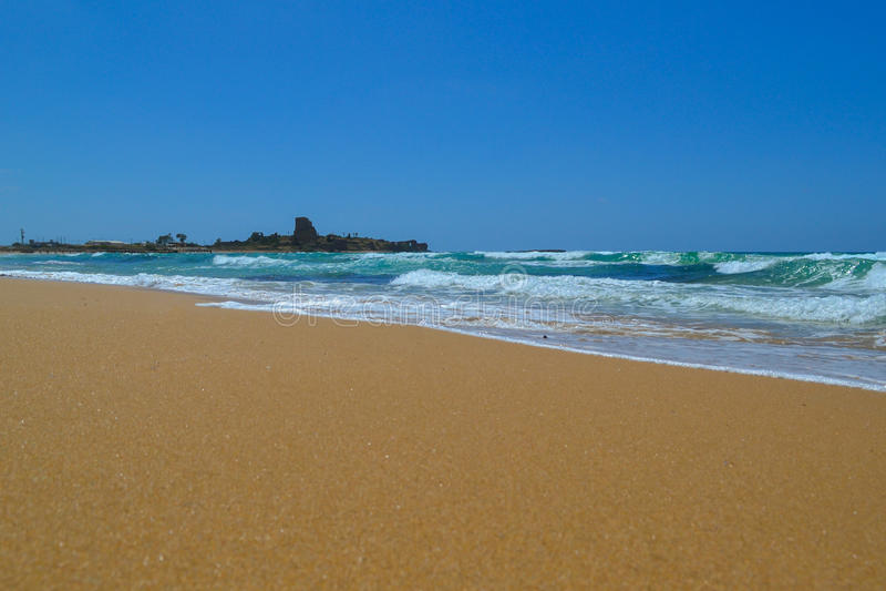 Atlit beach royalty free stock image