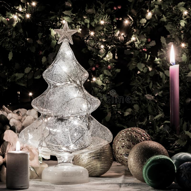 Atmósfera de la Navidad foto de archivo