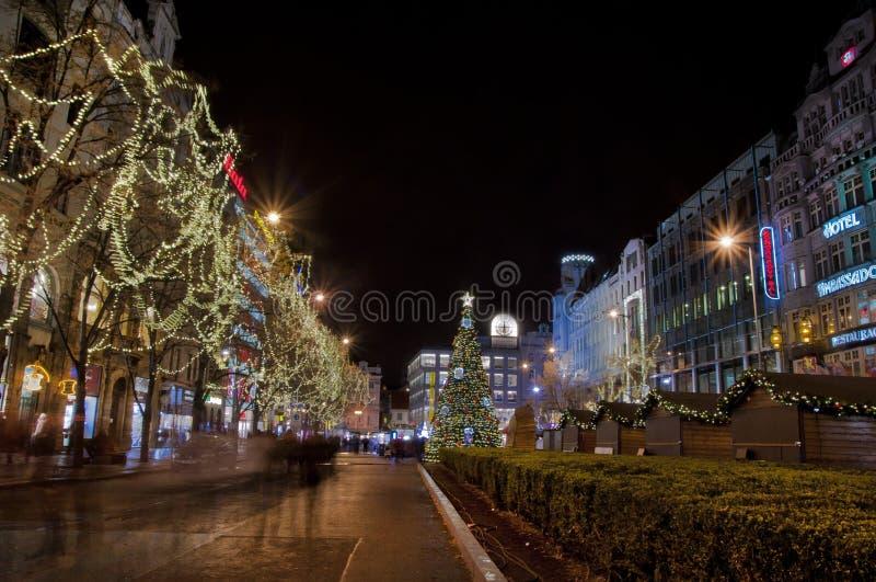 Atmósfera de la Navidad imagen de archivo libre de regalías