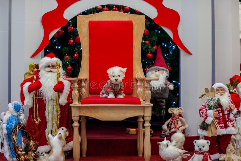 Atmósfera de la Navidad, decoraciones del Año Nuevo Papá Noel _2 fotografía de archivo