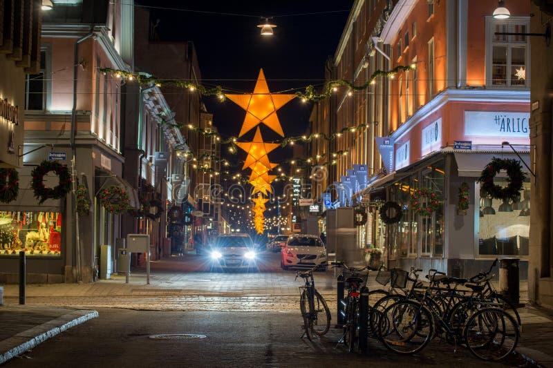 Atmósfera de la Navidad en Suecia foto de archivo