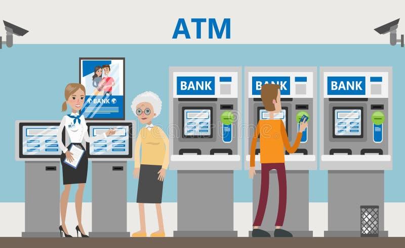 Atmósfera en el banco stock de ilustración