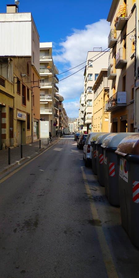 Atm?sfera loca de Europa en las calles de Barcelona imagen de archivo