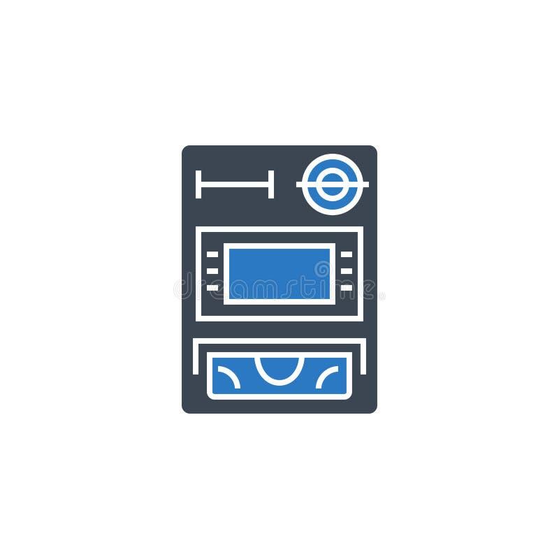 ATM关系了传染媒介纵的沟纹象 库存例证