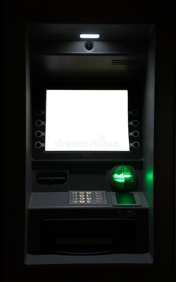 ATM机器在晚上 免版税图库摄影