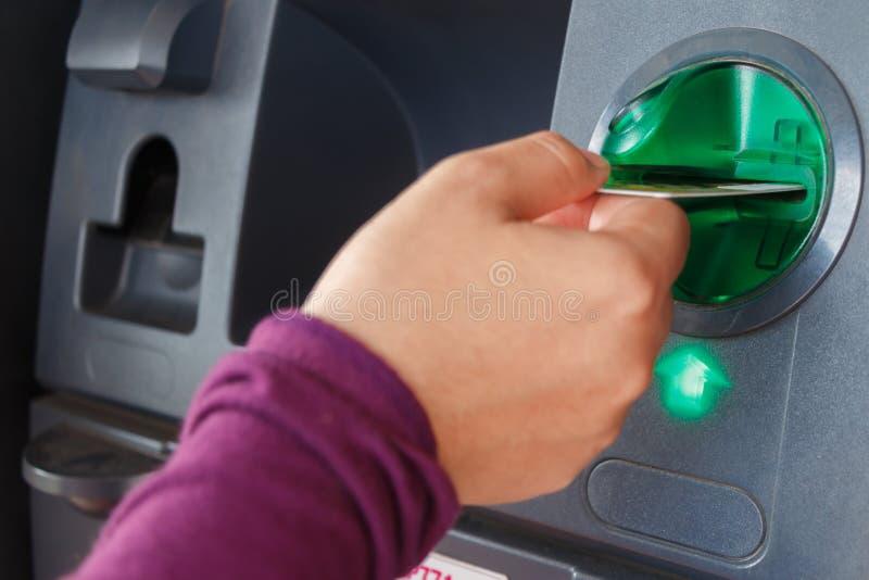 ATM特写镜头 库存图片